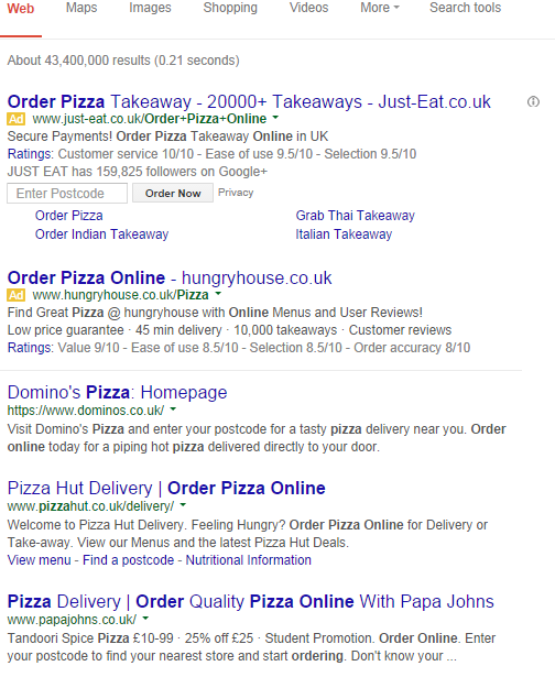 pizza pages organic
